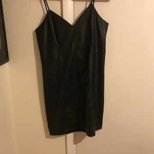 Express Leather Mini Dress